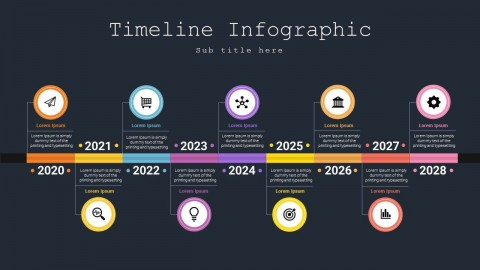 007 Awesome Powerpoint Timeline Template Free Download Example  History480