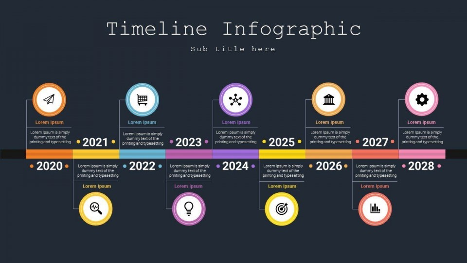 007 Awesome Powerpoint Timeline Template Free Download Example  History960