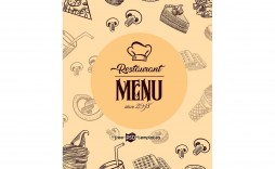 007 Awesome Restaurant Menu Template Free Download Inspiration