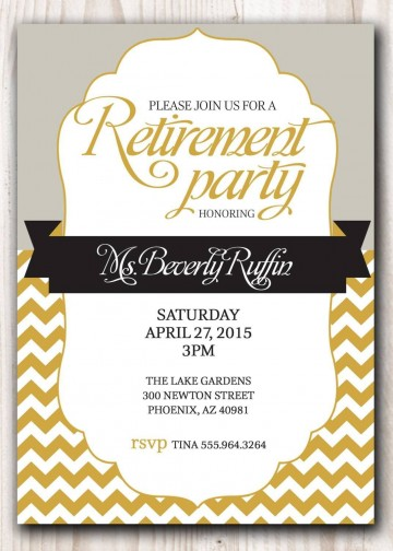 007 Awesome Retirement Invitation Template Free Highest Quality  Party Printable For Word360