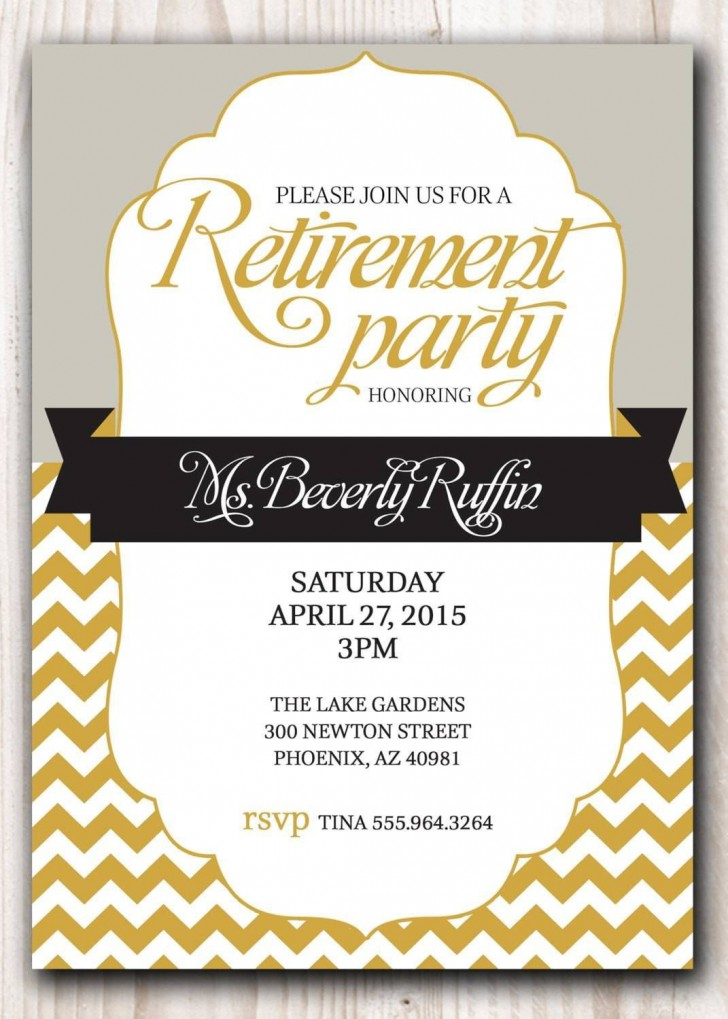 007 Awesome Retirement Invitation Template Free Highest Quality  Party Printable For Word728