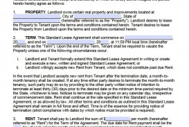 007 Awesome Template For Lease Agreement Idea  South Africa Pdf Printable Generic Rental Free