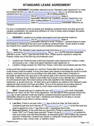 007 Awesome Template For Lease Agreement Idea  South Africa Pdf Printable Generic Rental Free320