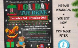 007 Awesome Toy Drive Flyer Template Sample  Holiday Download Free Word