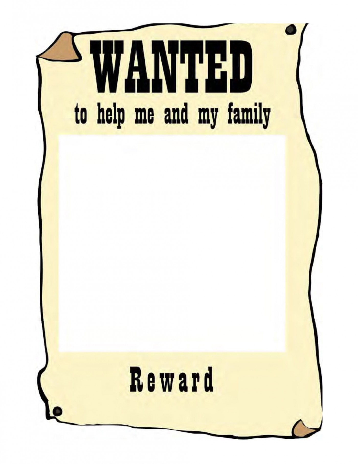 007 Awesome Wanted Poster Template Microsoft Word Highest Clarity  Western Most1400