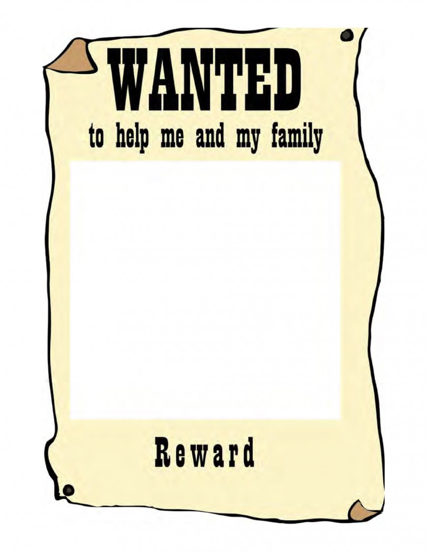 007 Awesome Wanted Poster Template Microsoft Word Highest Clarity  Western Most868