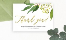 007 Awesome Wedding Thank You Card Template Psd Concept  Free