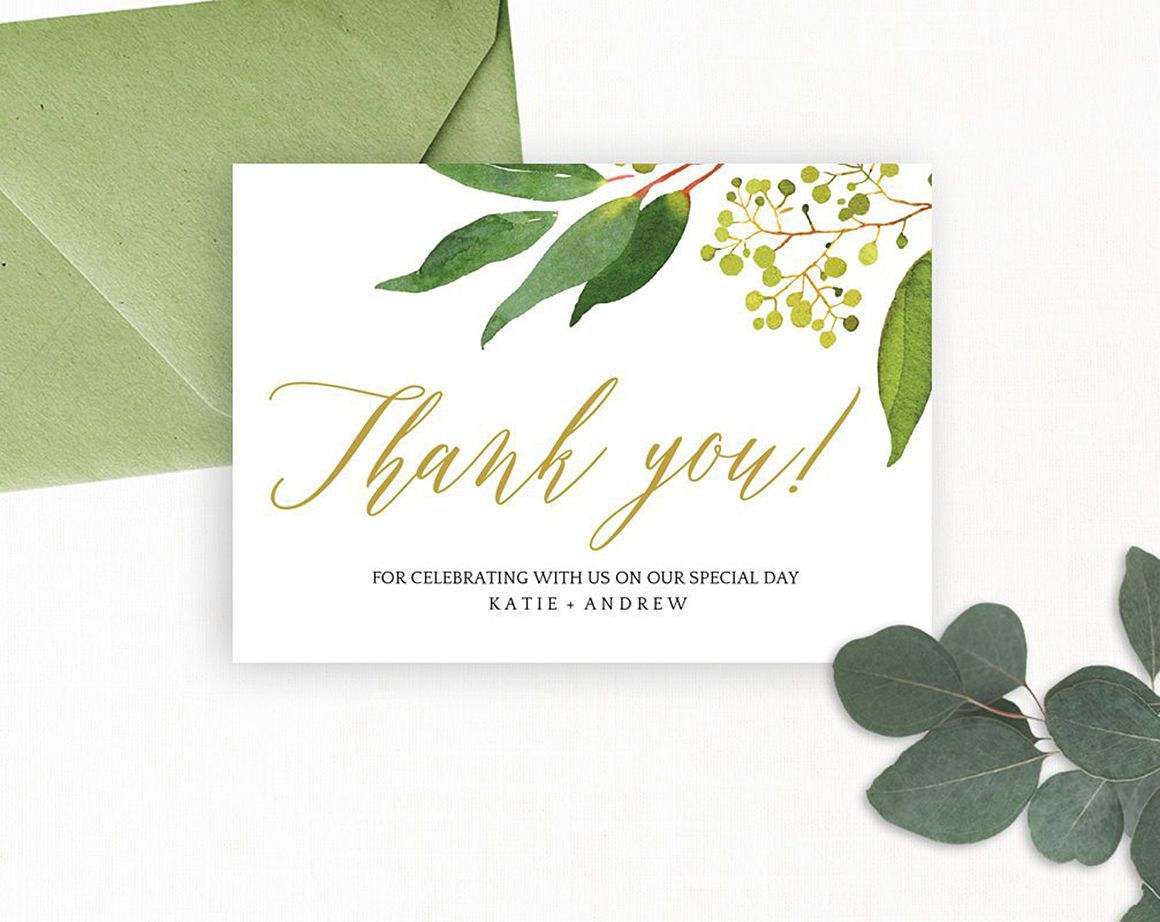 007 Awesome Wedding Thank You Card Template Psd Concept  FreeFull