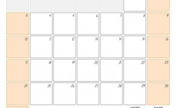 007 Awful 2020 Monthly Calendar Template Sample  Templates Word Australian Free