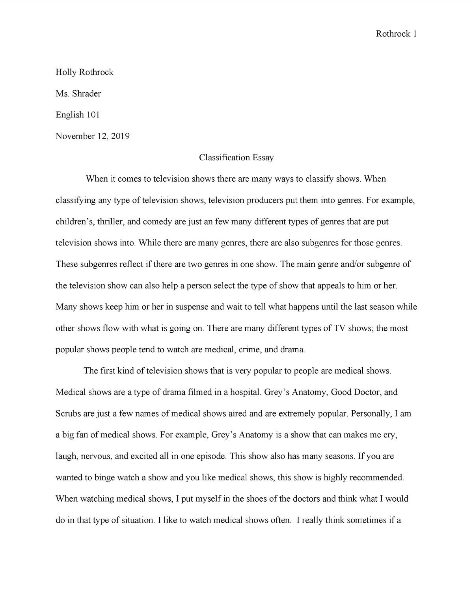 007 Awful Classification Essay Idea  About Type Of Food Topic Example1920