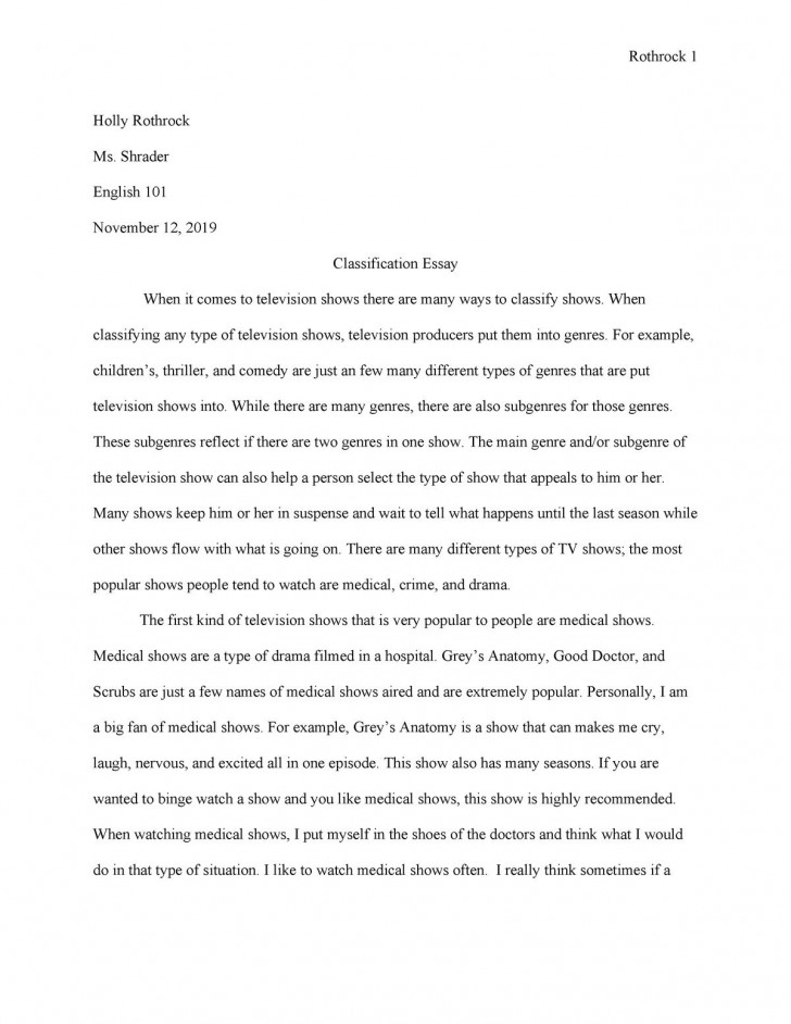 007 Awful Classification Essay Idea  About Type Of Food Topic Example728
