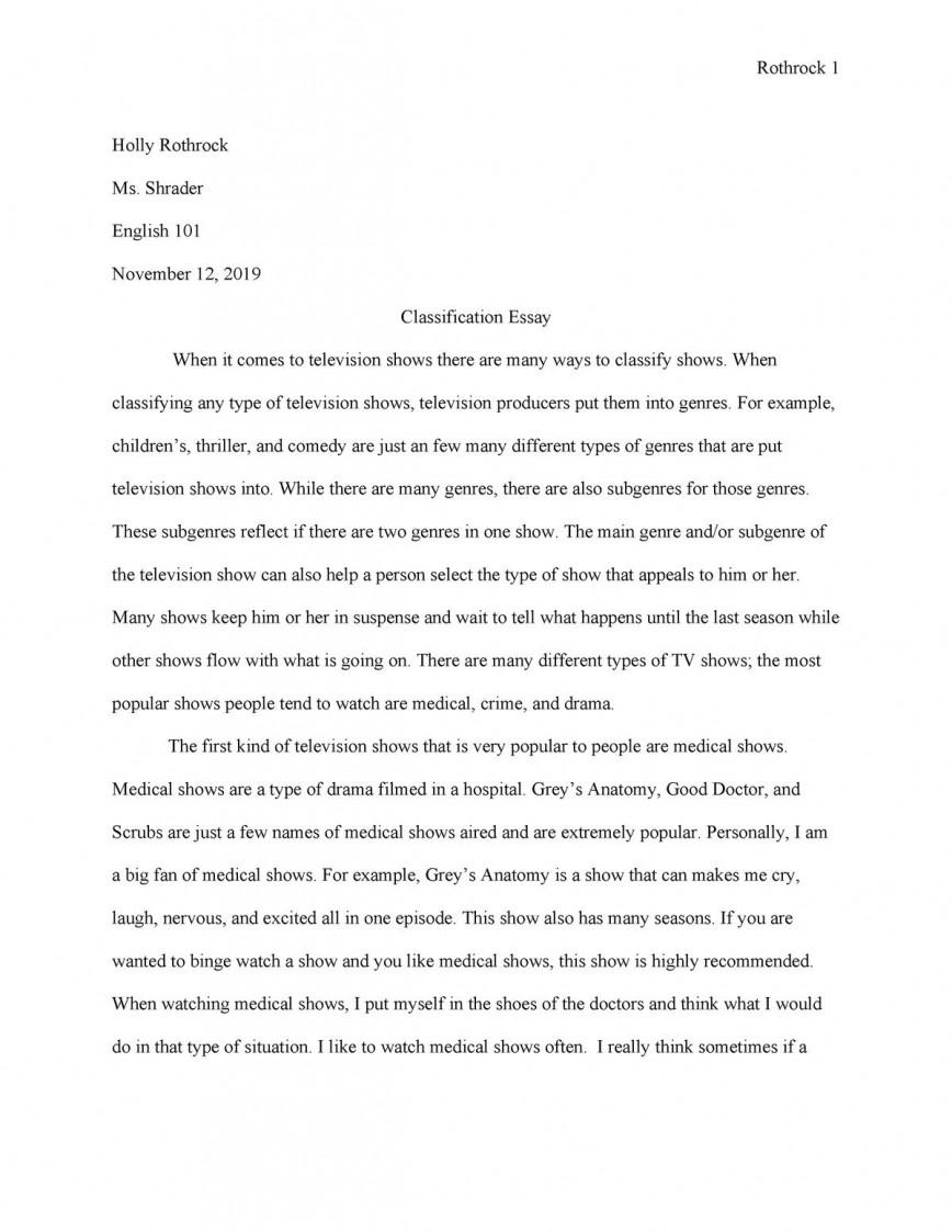 007 Awful Classification Essay Idea  About Type Of Food Topic Example868