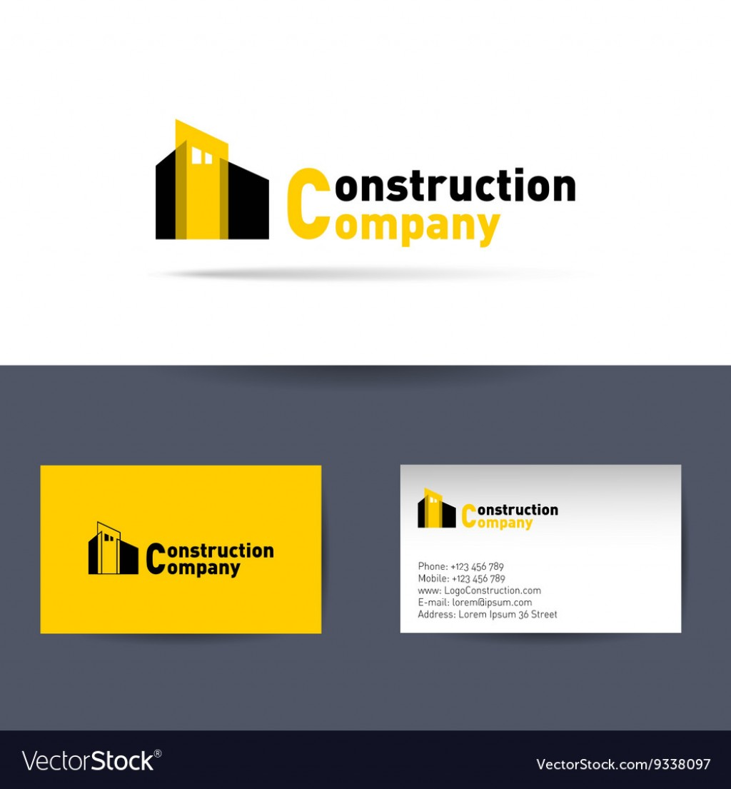 007 Awful Construction Busines Card Template Idea  Templates Visiting Company Format Design PsdLarge