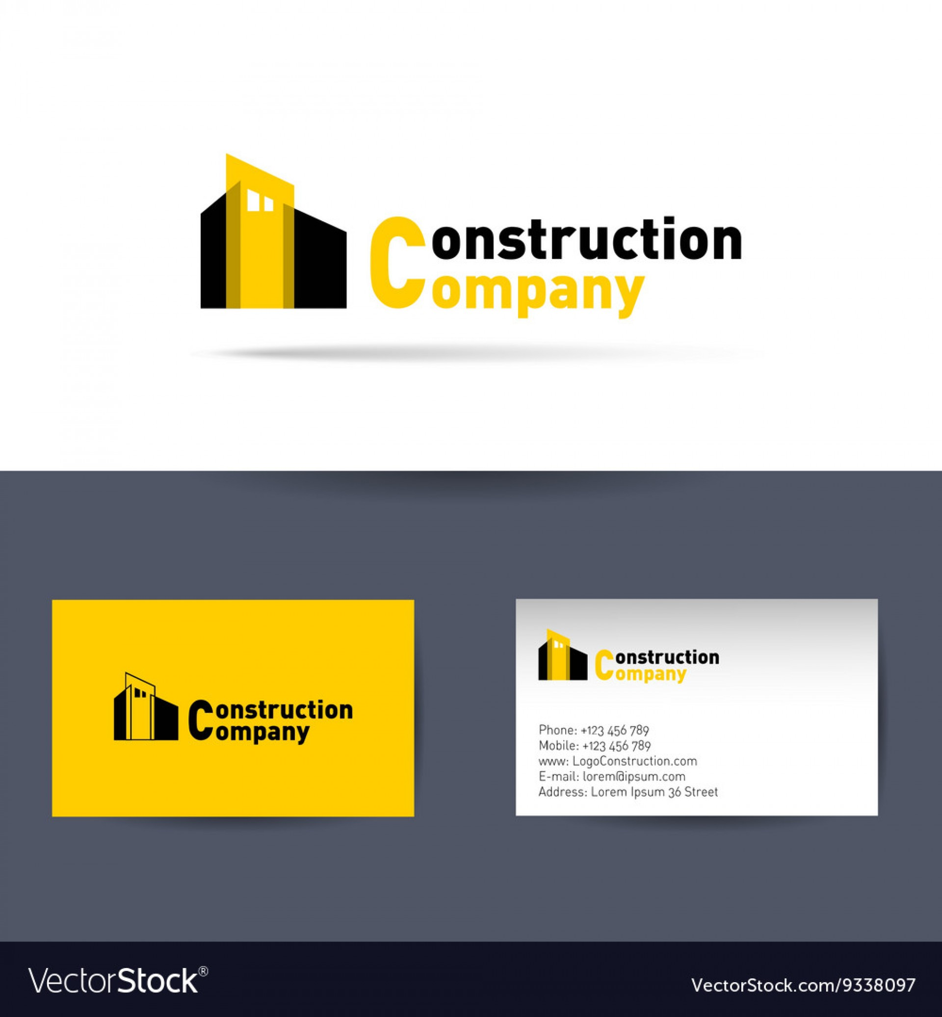 007 Awful Construction Busines Card Template Idea  Templates Visiting Company Format Design Psd1920