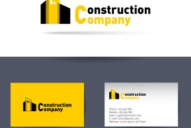 007 Awful Construction Busines Card Template Idea  Company Visiting Format Word For Material