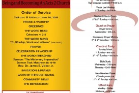 007 Awful Free Church Program Template Word Example  Bulletin For
