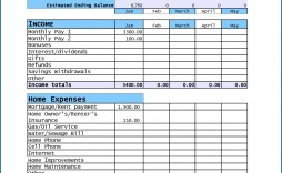 007 Awful Free Household Budget Template Idea  Templates Printable Form Home Excel