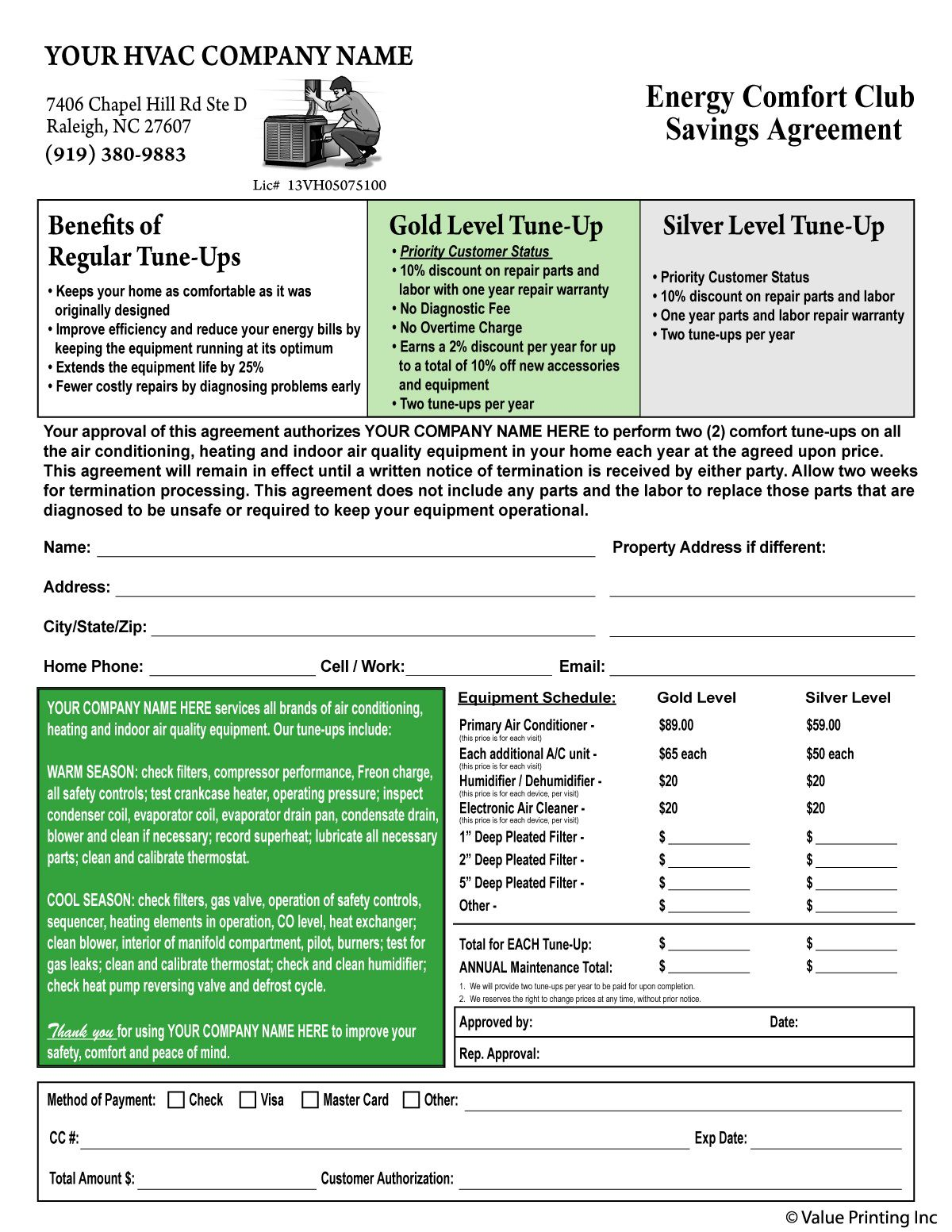 007 Awful Free Hvac Preventive Maintenance Agreement Template Image Full