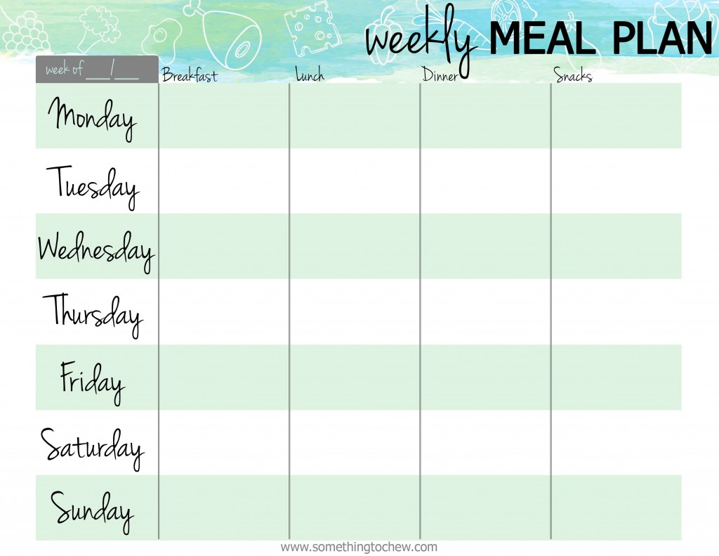 007 Awful Free Meal Planner Template Pdf Idea  Weekly With Grocery List MonthlyLarge