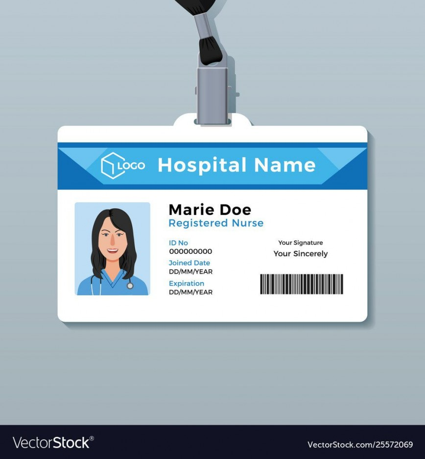 007 Awful Id Badge Template Free Highest Quality  Employee Download Teacher