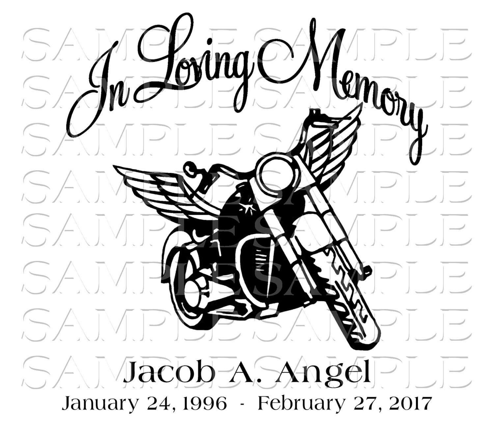 007 Awful In Loving Memory Decal Template Idea  Templates1920