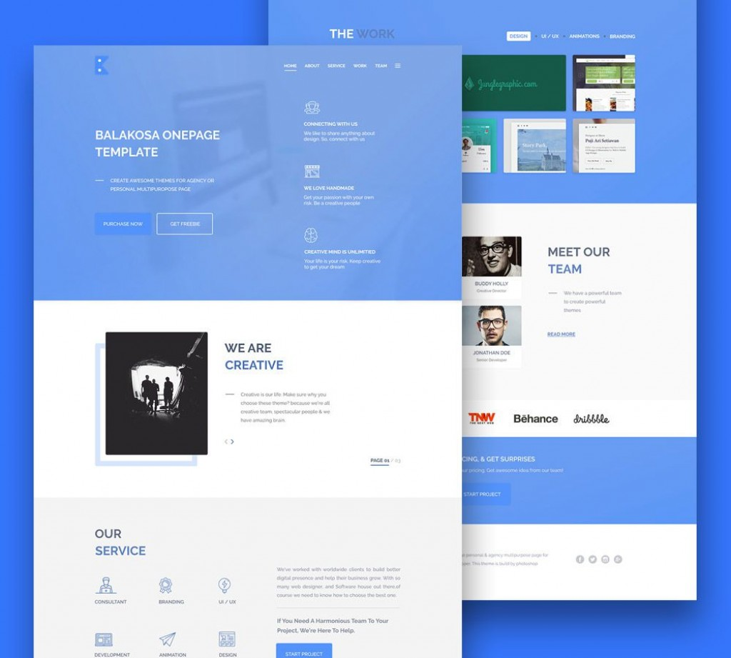 007 Awful Iran Free One Page Psd Website Template Photo Large