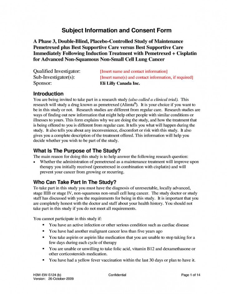 007 Awful Medical Treatment Authorization And Consent Form Template Idea 728