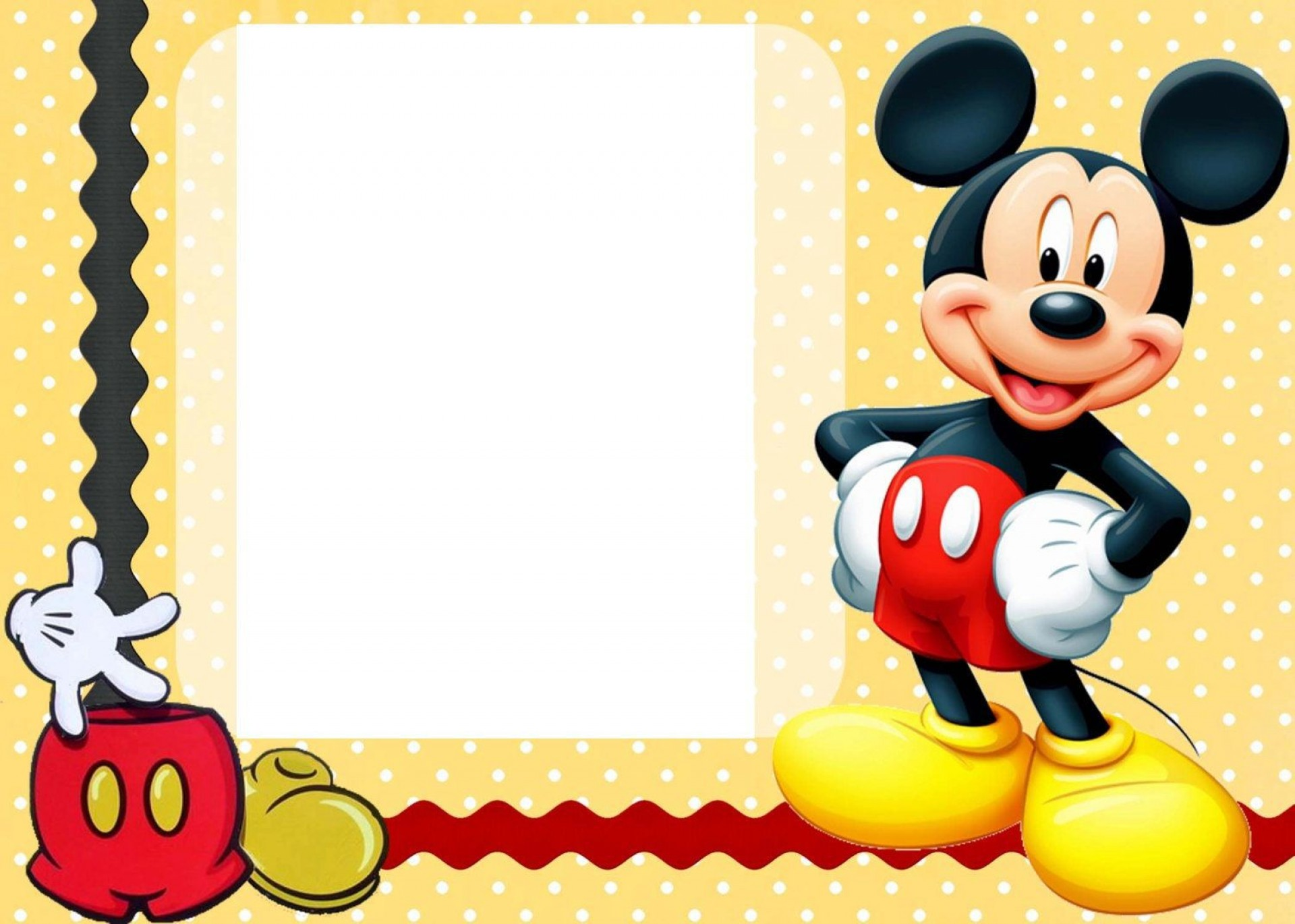 007 Awful Mickey Mouse Invitation Template Picture  Templates Clubhouse Birthday Free 1st Download1920