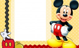 007 Awful Mickey Mouse Invitation Template Picture  Templates Clubhouse Birthday Free 1st Download
