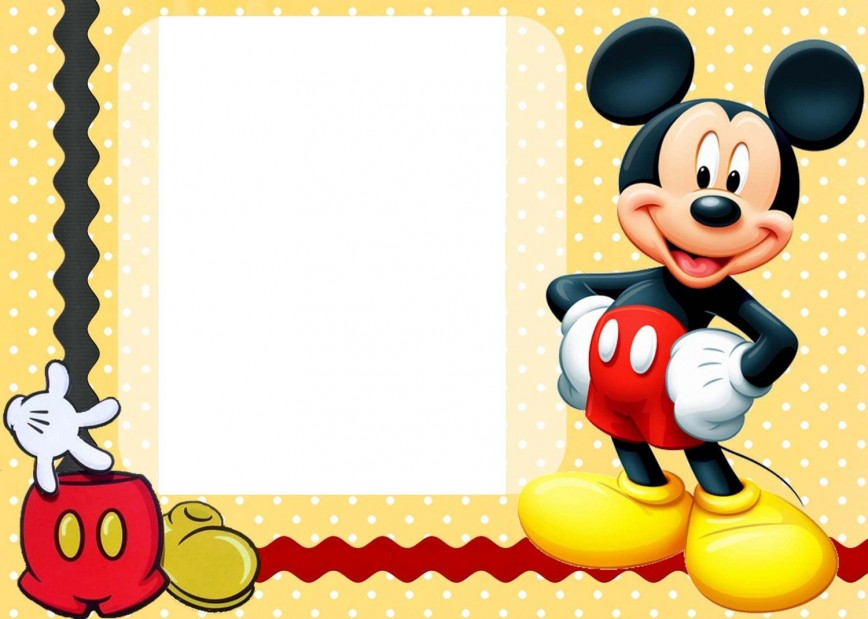 007 Awful Mickey Mouse Invitation Template Picture  Templates Free Download 1st Birthday Party Maker