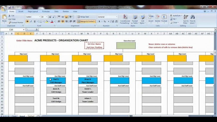 007 Awful Organizational Chart Template Excel Design  Free 2010728