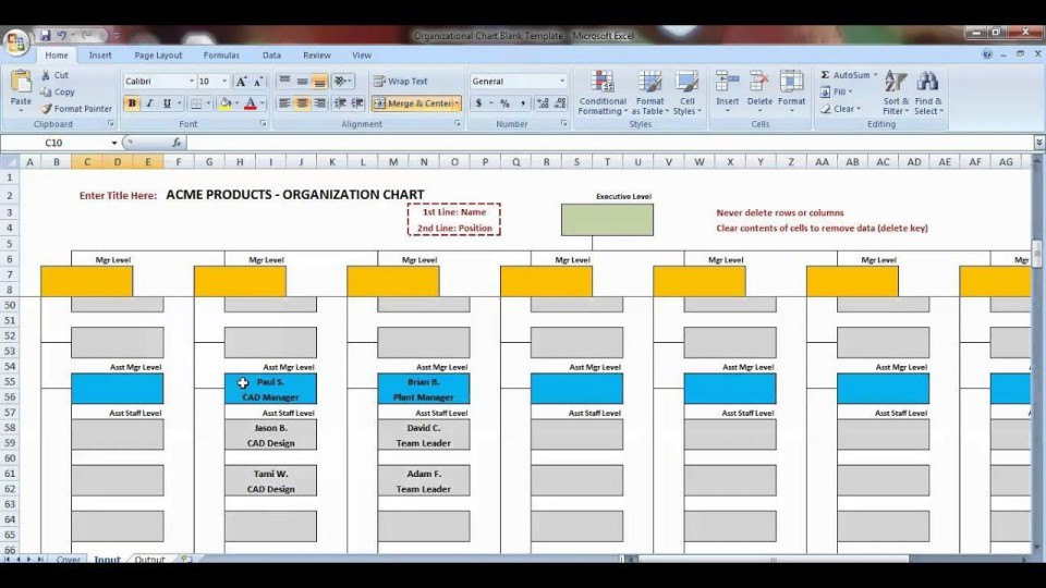 007 Awful Organizational Chart Template Excel Design  Free 2010960