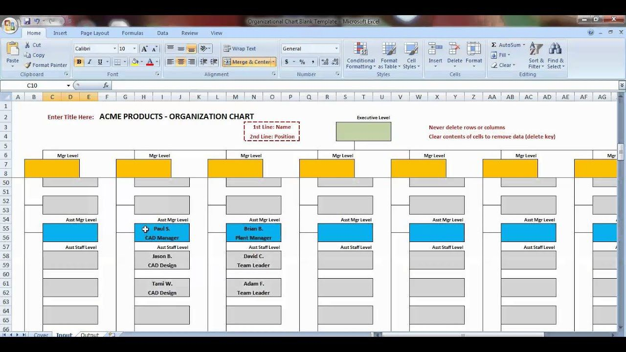 007 Awful Organizational Chart Template Excel Design  Free 2010Full