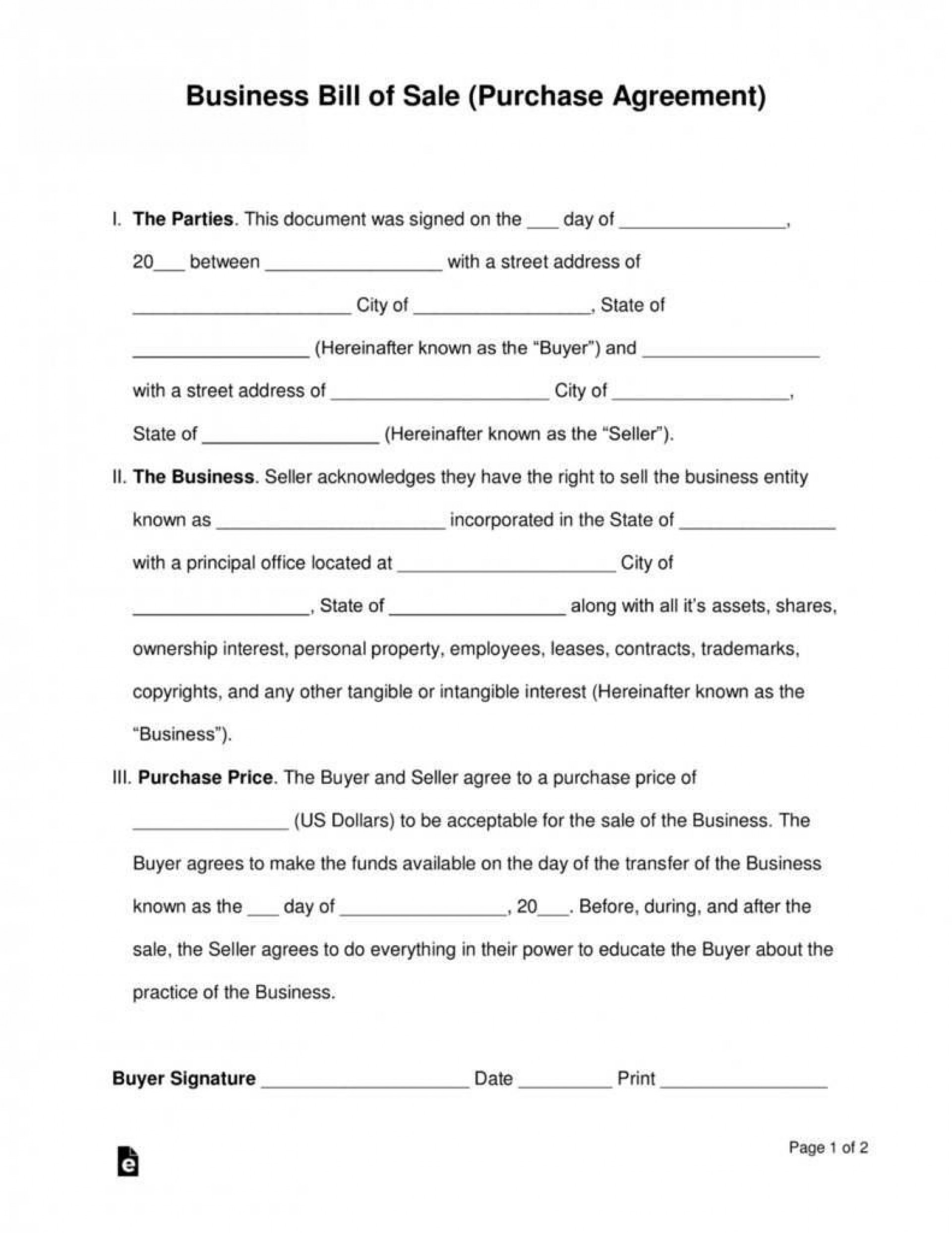 007 Awful Partnership Buyout Agreement Template High Resolution  Buy Sell Small Busines Form1920