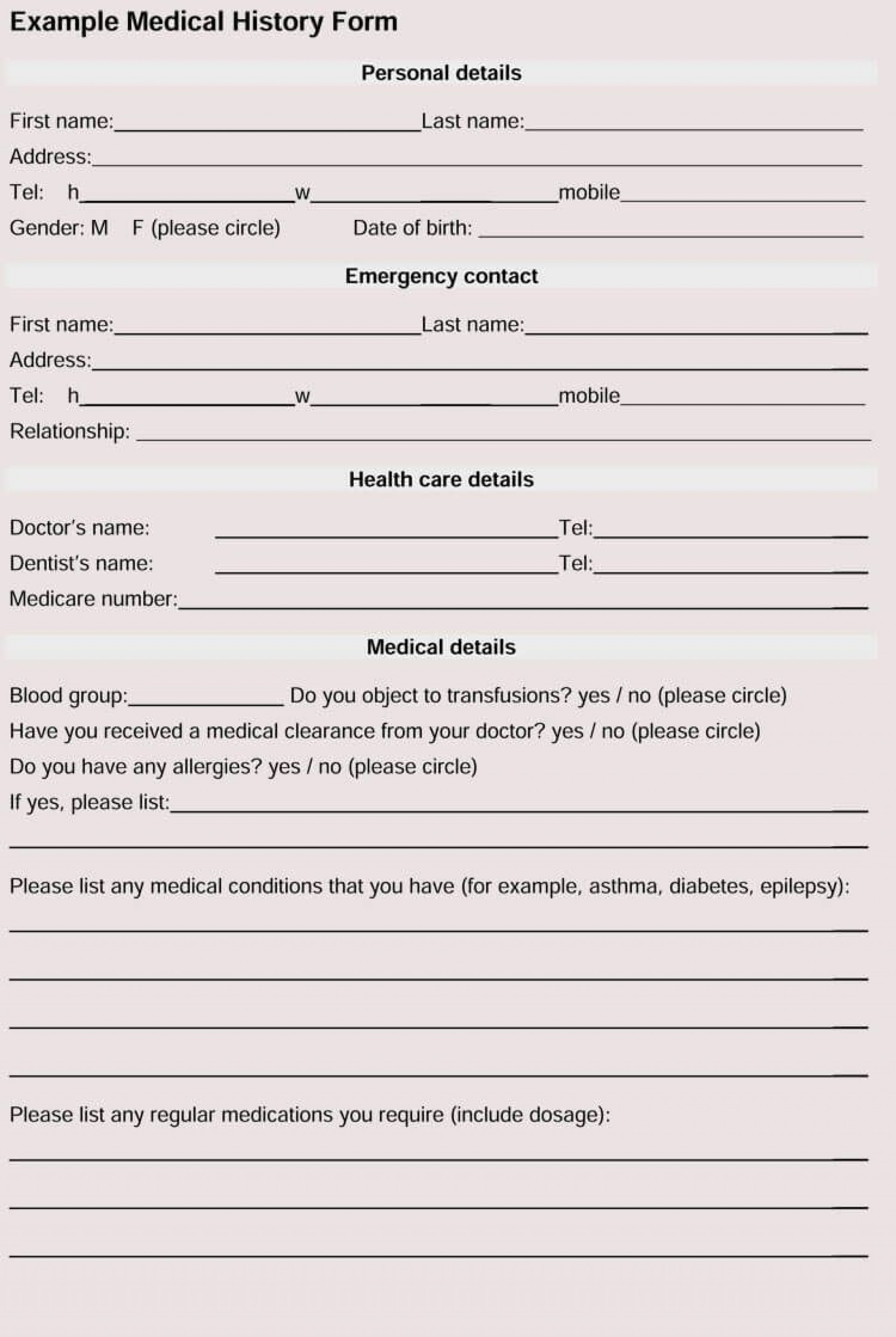 007 Awful Patient Information Form Template Highest Quality  Word Update1920