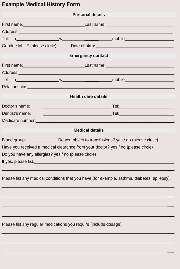 007 Awful Patient Information Form Template Highest Quality  Word UpdateFull