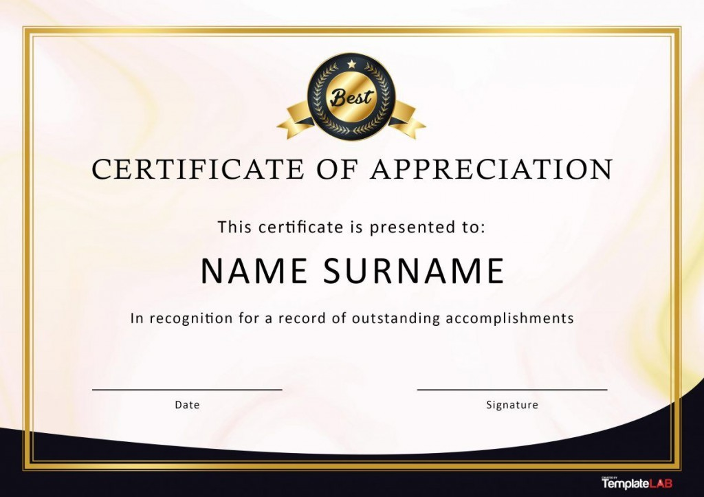 007 Awful Recognition Certificate Template Free Picture  Employee Award Of Download WordLarge