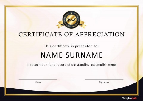 007 Awful Recognition Certificate Template Free Picture  Employee Award Of Download Word480