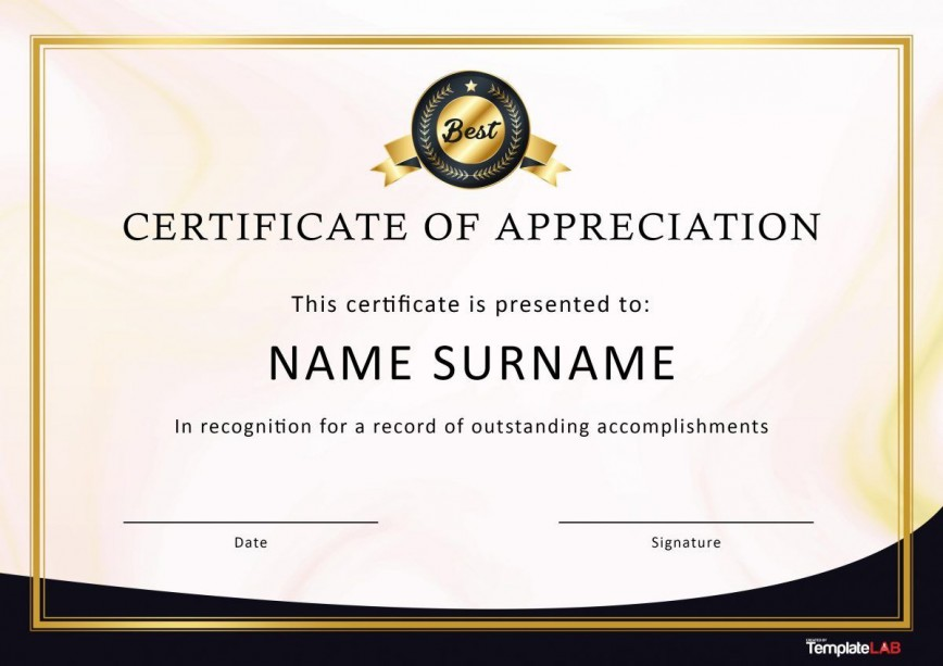 007 Awful Recognition Certificate Template Free Picture  Employee Award Of Download Word868