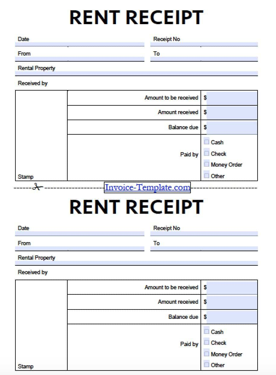007 Awful Sample Rent Receipt Word Doc Photo Full