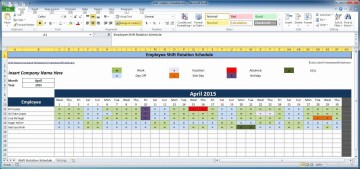 007 Awful Work Schedule Calendar Template Excel Picture 360