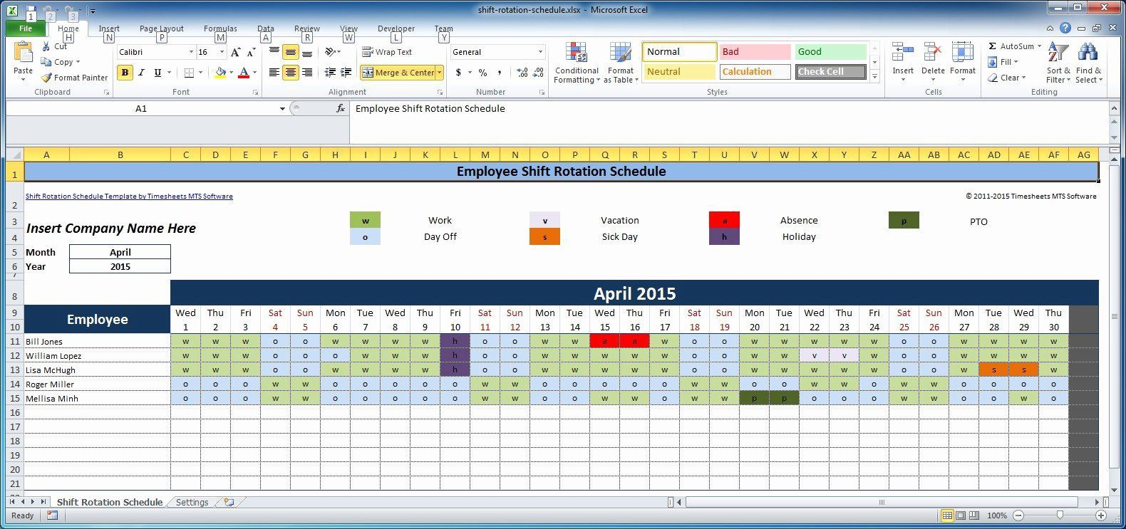 007 Awful Work Schedule Calendar Template Excel Picture Full