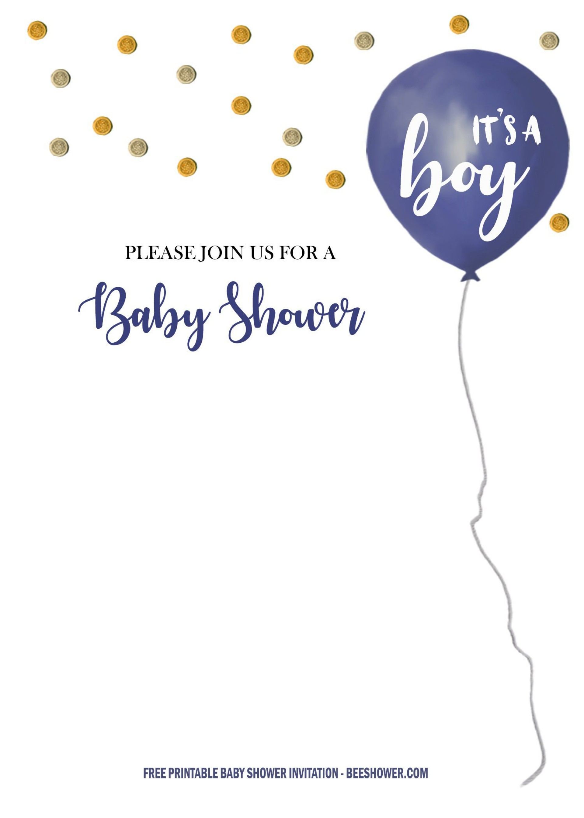 007 Beautiful Baby Shower Invitation Free Template Inspiration  Templates Online Printable E-invitation Card Design Download1920