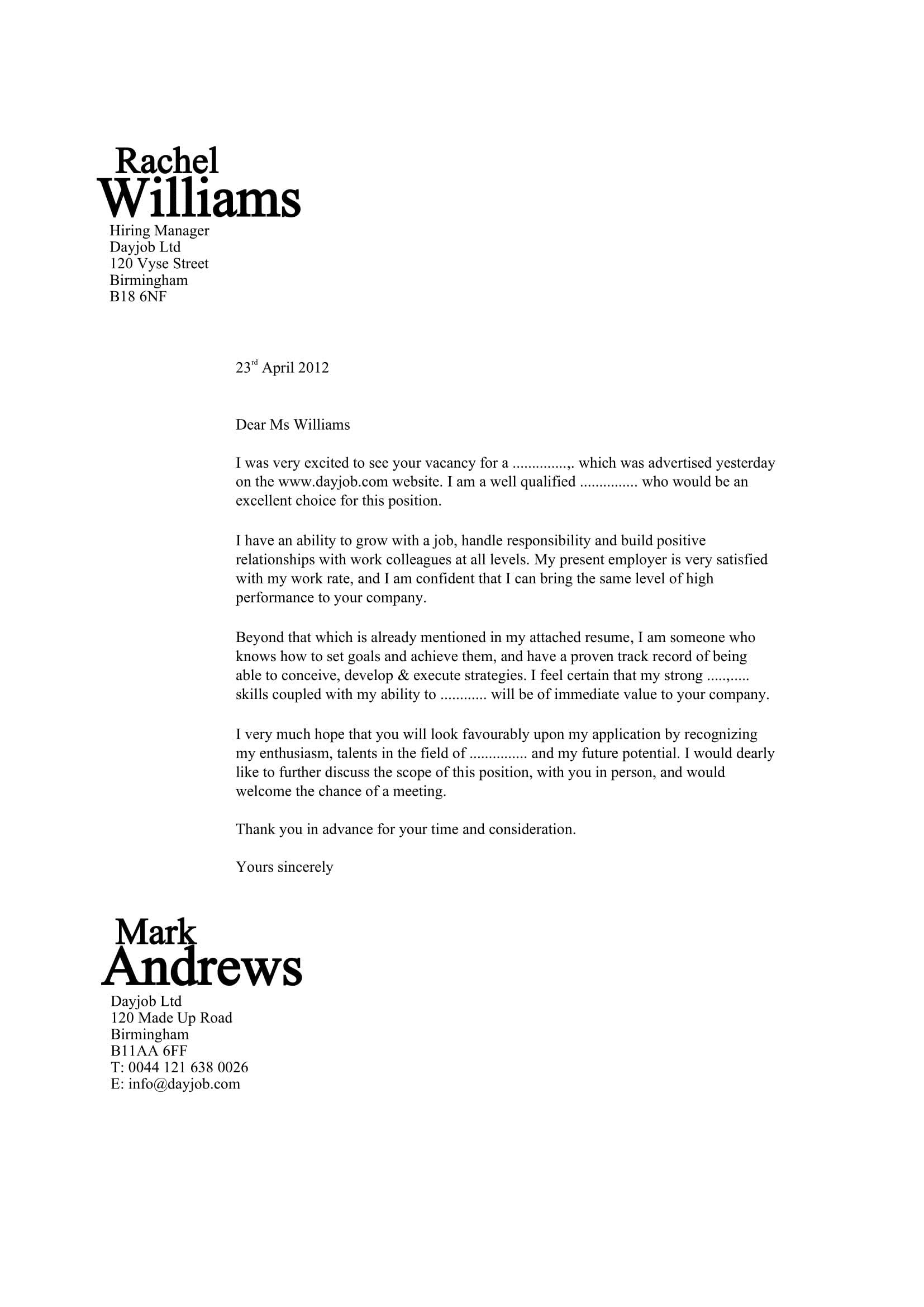 007 Beautiful Best Covering Letter Example Sample  Examples UkFull