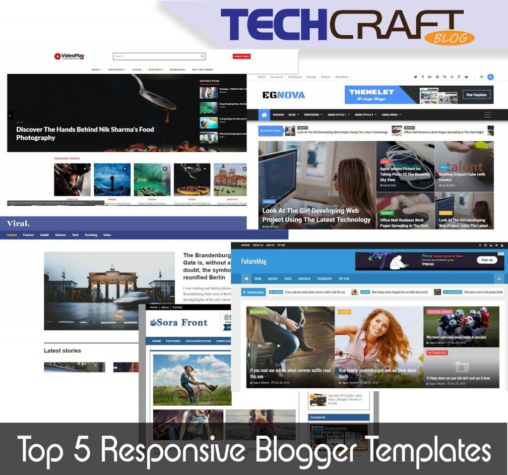 007 Beautiful Best Free Responsive Blogger Template 2019 Photo Large