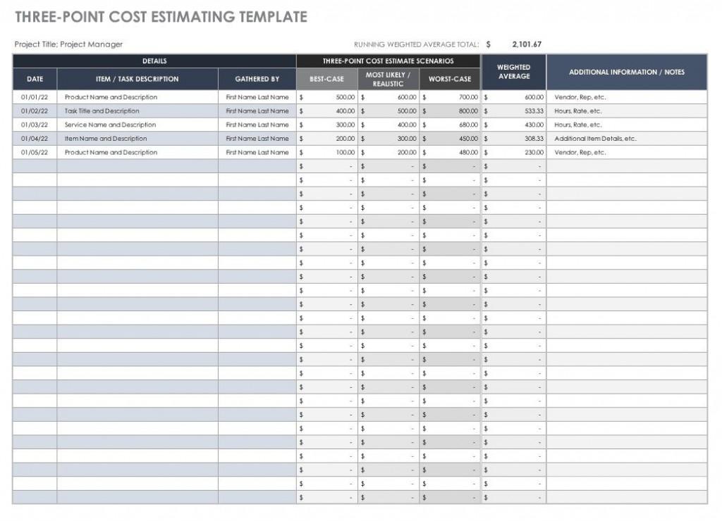 007 Beautiful Construction Estimating Spreadsheet Template High Resolution  Example Estimate Free CostLarge