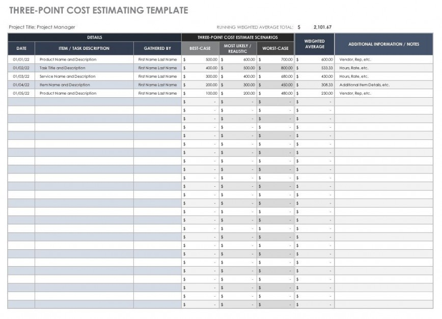 007 Beautiful Construction Estimating Spreadsheet Template High Resolution  Excel Cost Estimate