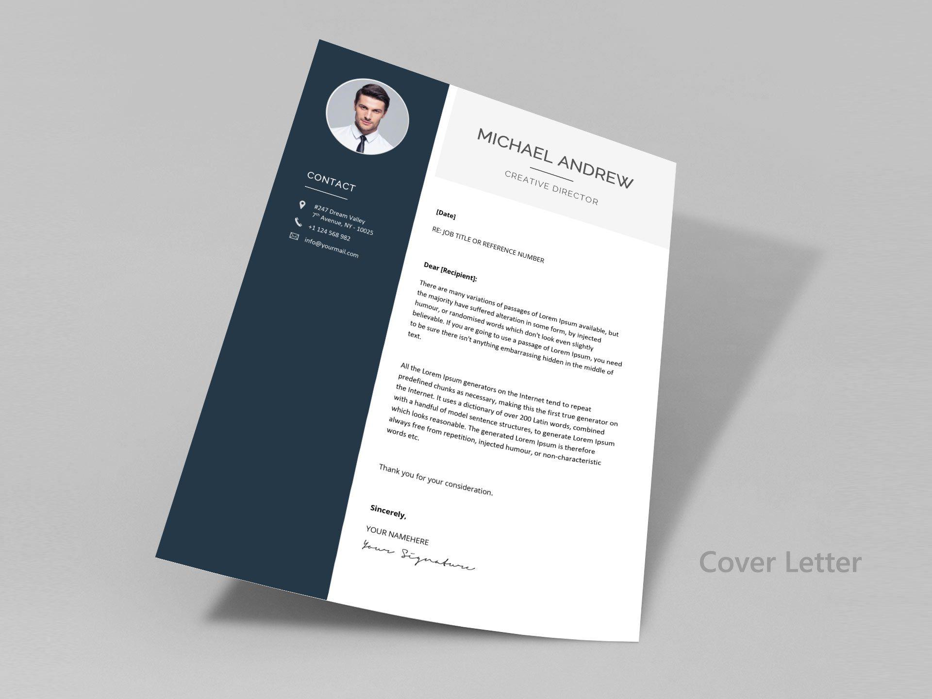 007 Beautiful Creative Resume Template M Word Free Design Full