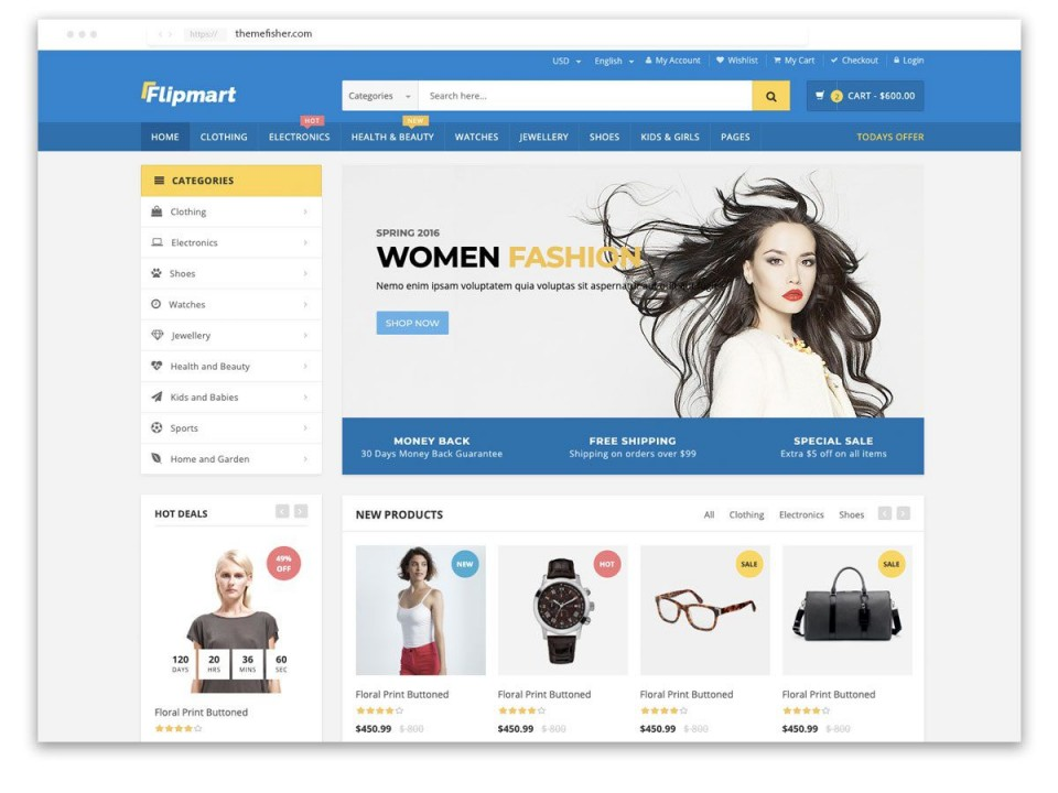 007 Beautiful Ecommerce Website Template Html Free Download Highest Clarity  Bootstrap 4 Responsive With Cs Jquery960