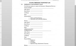 007 Beautiful Emergency Operation Plan Template Inspiration  For Churche Fema Basic